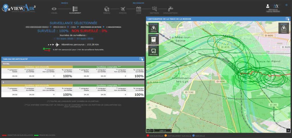 Applicatif client développé par AirMarine