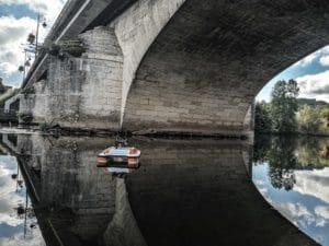 Inspection de canalisations sous pont